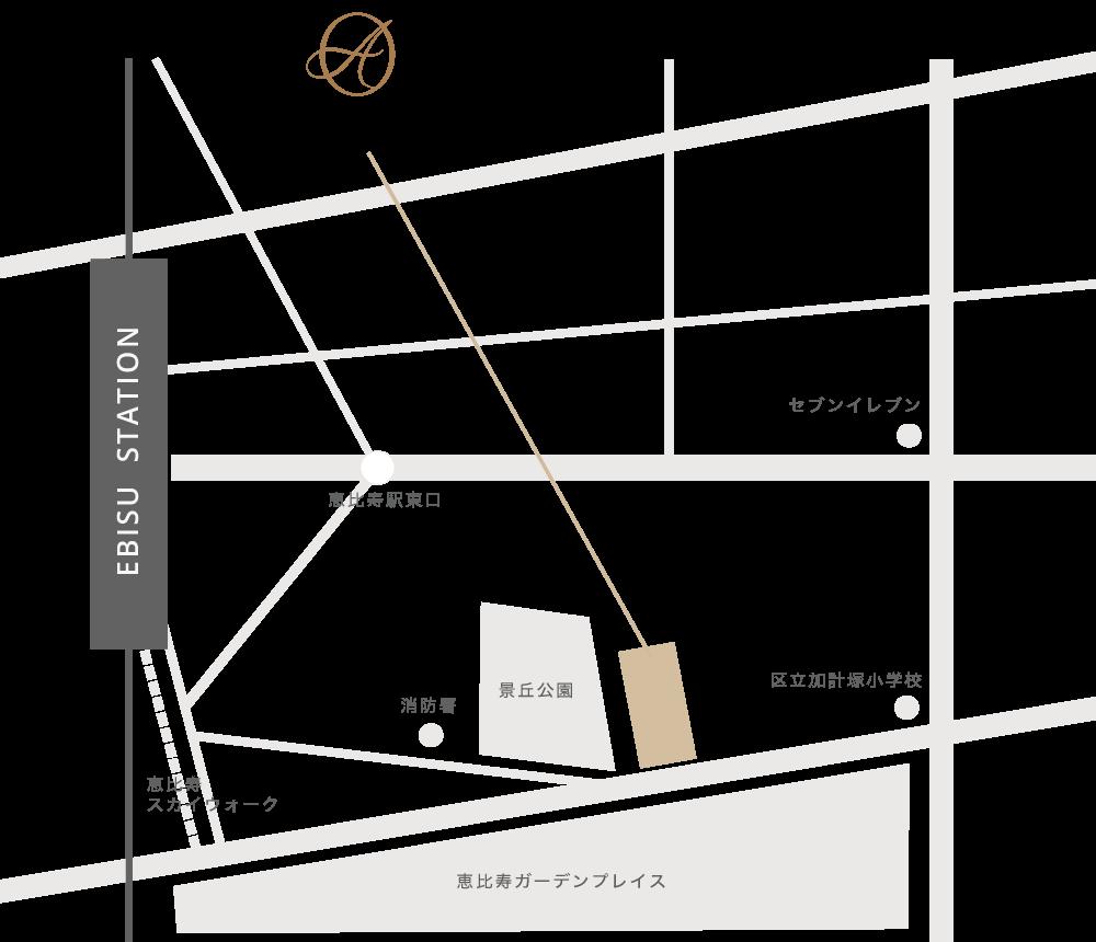 アレーズの地図