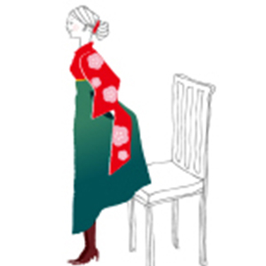 椅子の座り方
